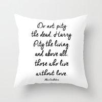 dumbledore Throw Pillows featuring HARRY POTTER // ALBUS DUMBLEDORE II by Brittney Weidemann