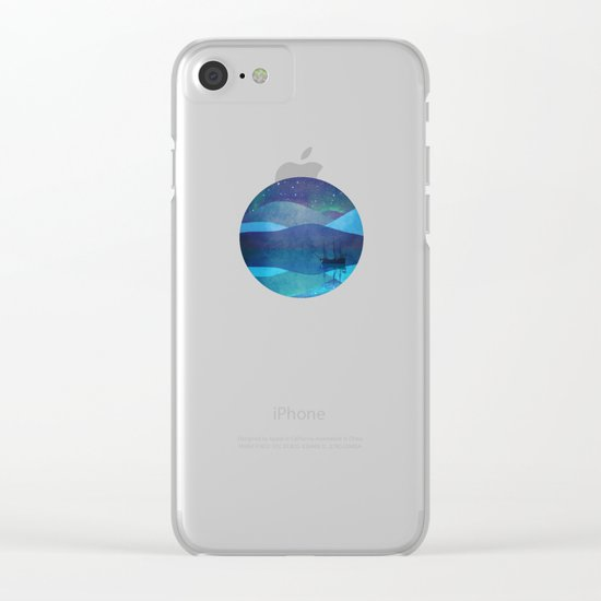 The North Pole Clear iPhone Case