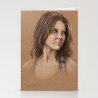 kate bishop Stationery Cards featuring Kate by Jackie Sullivan