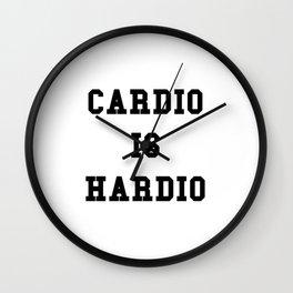 Cardio is Hardio Wall Clock