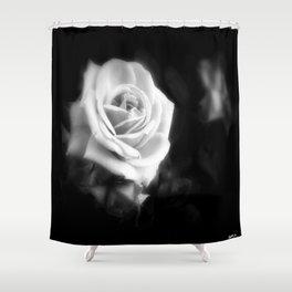 Pink Roses in Anzures 1 Dark Shower Curtain