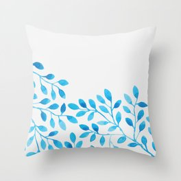 Watercolor Branches Throw Pillow