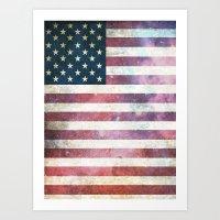 patriotic Art Prints featuring PATRIOTIC by alfboc