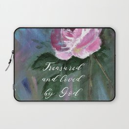 Treasured and Loved by God Laptop Sleeve