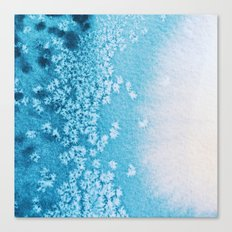 Blue Ocean Abstract Watercolor Canvas Print