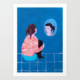 """Bitchy Resting Face."" Thanks x One Million. Art Print"