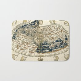 World Map 1482 Bath Mat