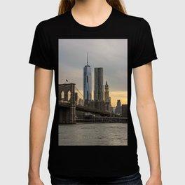 Freedom Tower and Brooklyn Bridge T-shirt