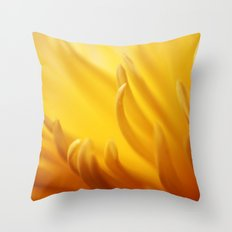 Flaming Petals Throw Pillow