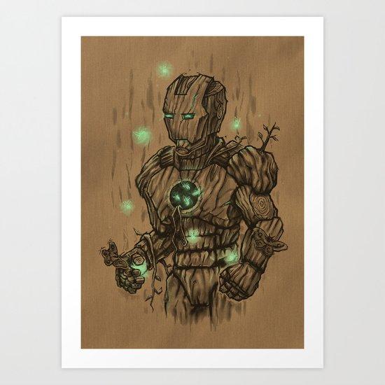 Wooden Man Art Print