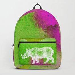 Color Spot Safari Rhinoceros Backpack