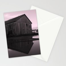 Warehouse Reflection in Pink Stationery Cards