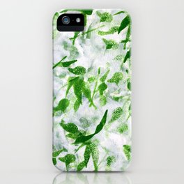 Green Abstract Pattern iPhone Case