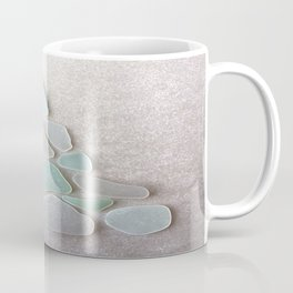 Sea Foam Sea Glass Christmas Tree #Christmas #seaglass Coffee Mug
