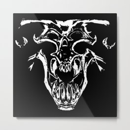 Tyrant Viking Skull Metal Print