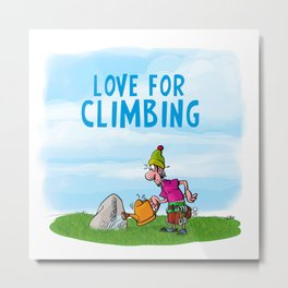 Love for Climbing Metal Print