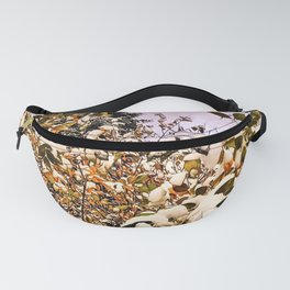 Fresh Snow On Colored Leaves Fanny Pack