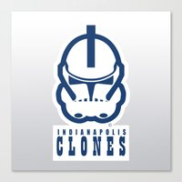 nfl Canvas Prints featuring Indianapolis Clones - NFL by Steven Klock