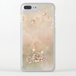 First Blush of Roses Clear iPhone Case