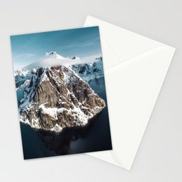 aerial view of the lofoten Stationery Cards
