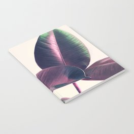 Pink and Green Iridescent Leaves Notebook