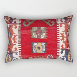 Aksaray Cappadocian Central Anatolian Niche Kilim Print Rectangular Pillow