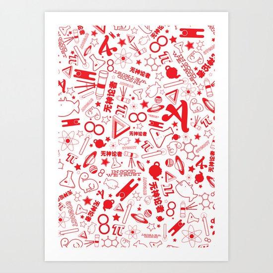 Scarlet A - Version 1 Art Print