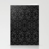 gray pattern Stationery Cards featuring Slate Gray Black Pattern by 2sweet4words Designs