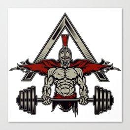 Spartan Weight Lifter - Bodybuilding Gift Canvas Print