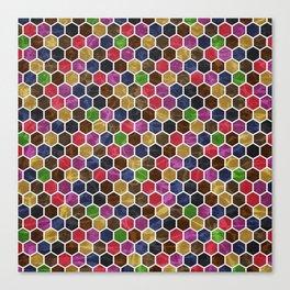 Colorful Hexagon Seamless Pattern Canvas Print