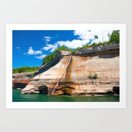 Bridal Veil Falls: Upper Peninsula of Michigan Art Print