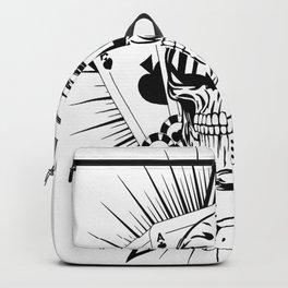 Aviator skull art, custom gift design Backpack