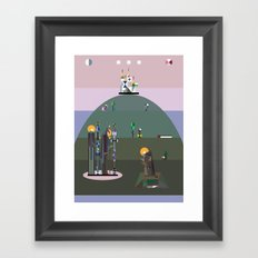 bellflower of the northern sky Framed Art Print