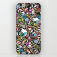sticker iPhone & iPod Skins featuring Sticker Bomb by thickblackoutline