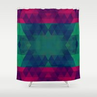 geo Shower Curtains featuring Geo by Catherine Stuckrath