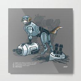 Robopup Metal Print