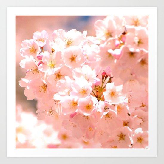 Pretty Pink Spring Blossoms :) Art Print