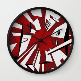 Radial Boxes Wall Clock