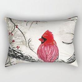 Red Robins Winter Rectangular Pillow