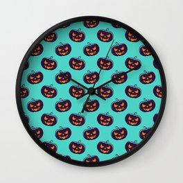 Scarry Halloween Pattern Wall Clock