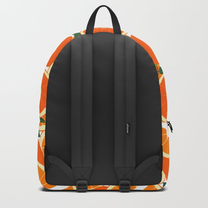 Orange Harvest - White Backpack
