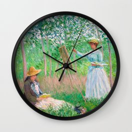 In the Woods at Giverny by Claude Monet, 1887 Wall Clock