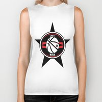 basketball Biker Tanks featuring BASKETBALL  by Robleedesigns