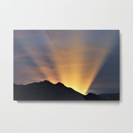 Desert Sunrays At Twilight-Barbara Chichester Metal Print
