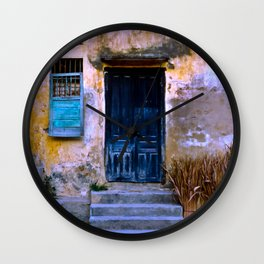 Chinese Facade of Hoi An in Vietnam Wall Clock