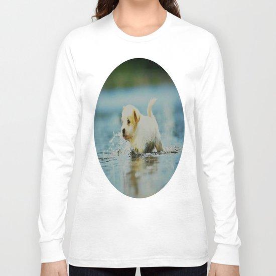 Splish - Splash, puddles are fun Long Sleeve T-shirt