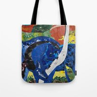 marc Tote Bags featuring franz marc tribute by zantelier