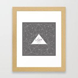 The Light of Men Framed Art Print