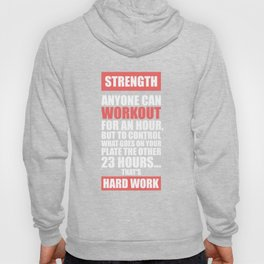 Lab No. 4 - Strength Anyone Can Workout For An Hour Gym Motivational Quotes Poster Hoody