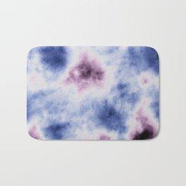 blue purple tie dye Bath Mat